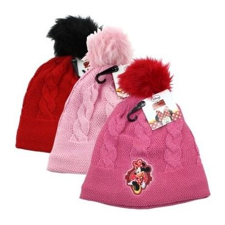 787f9772184 Pletená Podzimní   Zimní Čepice S Bambulí Minnie Mouse
