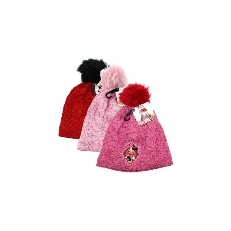 Pletená podzimní   zimní čepice s bambulí Minnie Mouse   vecizfilmu bb2c7f202e