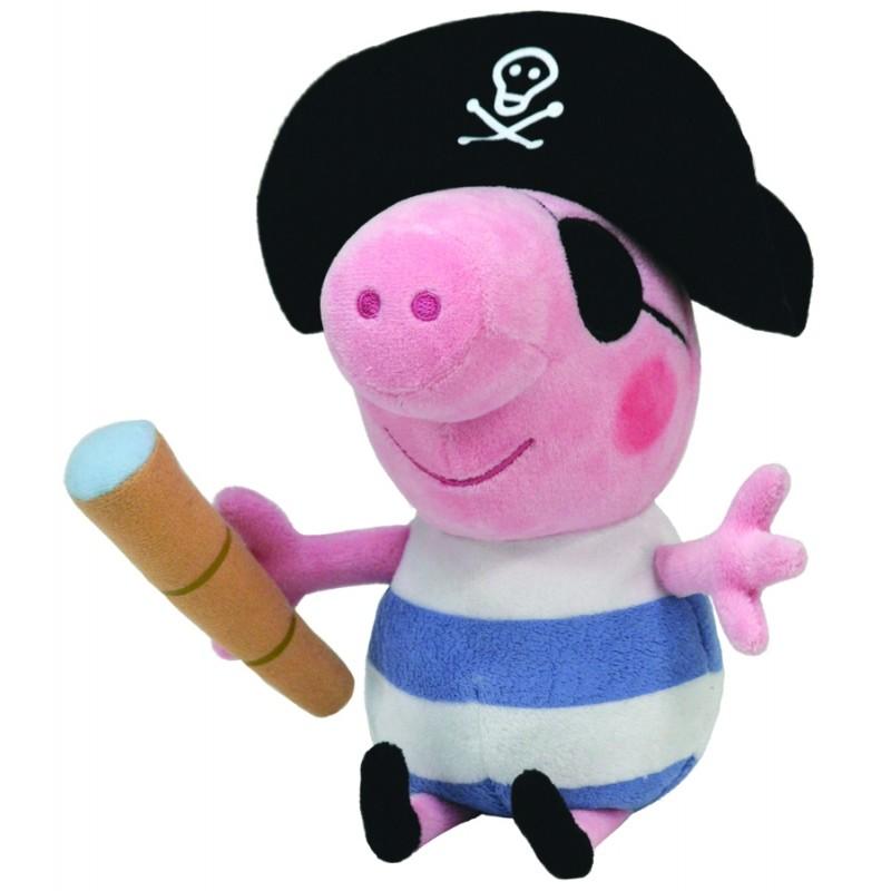 Plyšová figurka bratříček Tom / Prasátko Peppa Pirát 15 cm