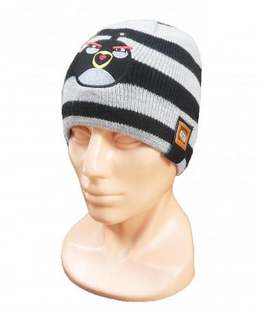 Podzimní / zimní čepice šedá / černá Angry Birds / vecizfilmu