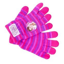 Dívčí rukavice proužky Violetta / vecizfilmu