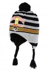 Peru Čepice Bart Simpson Šedo - Černá