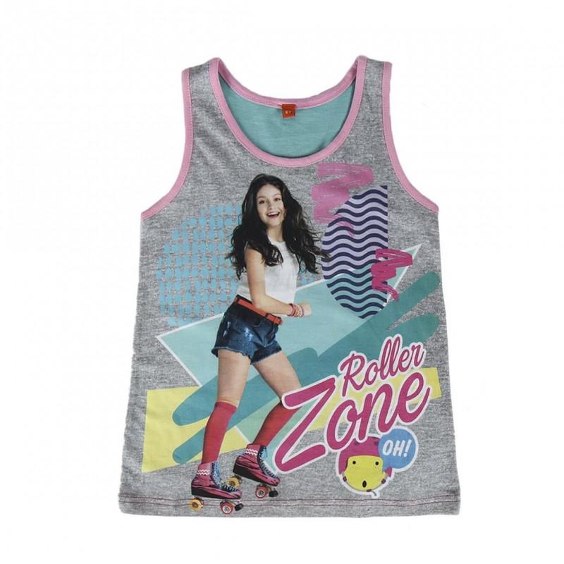 Dívčí tričko / tílko šedé  Soy Luna Roller Zone