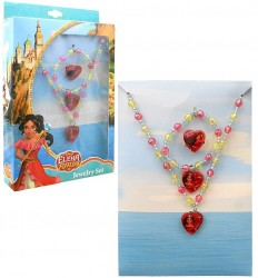 Korálkový náhrdelník, náramek a prsten pro dívky Elena z Avaloru / Elena of Avalor