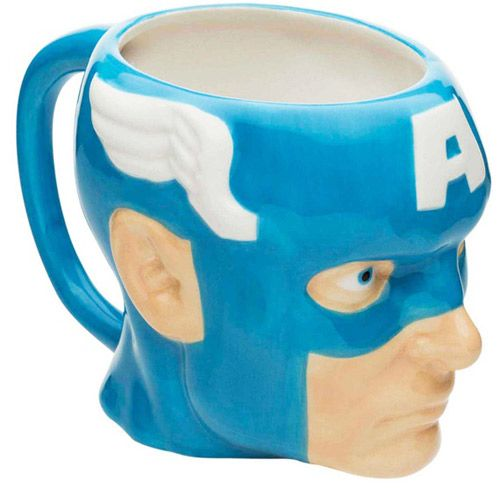 Hrnek Keramický 3D Captain America / Kapitán Amerika Marvel Modrý 350 Ml