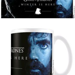 HRNEK KERAMICKÝ HRA O TRŮNY / GAME OF THRONES WINTER IS HERE TYRION BÍLÝ 315 ML
