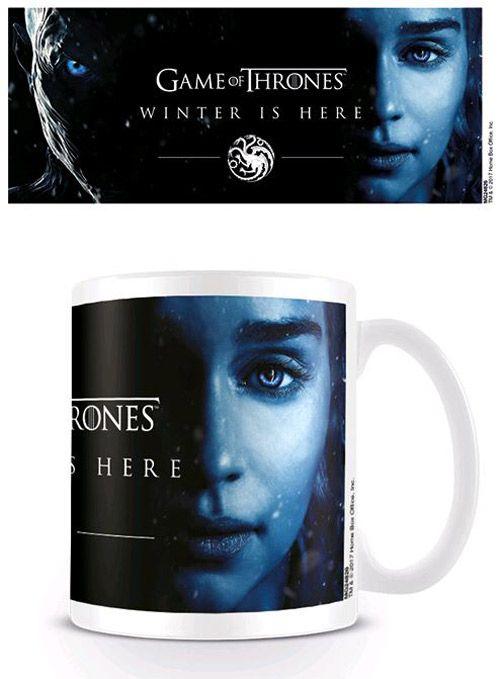Hrnek Keramický Hra O Trůny / Game Of Thrones Winter Is Here Deanerys Bílý 315 Ml