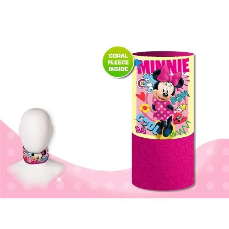 Fleecový nákrčník pro holky Minnie Mouse růžový