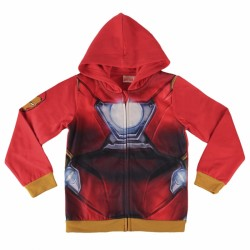 Mikina Na Zip S Kapucí Červená Iron Man / Avengers