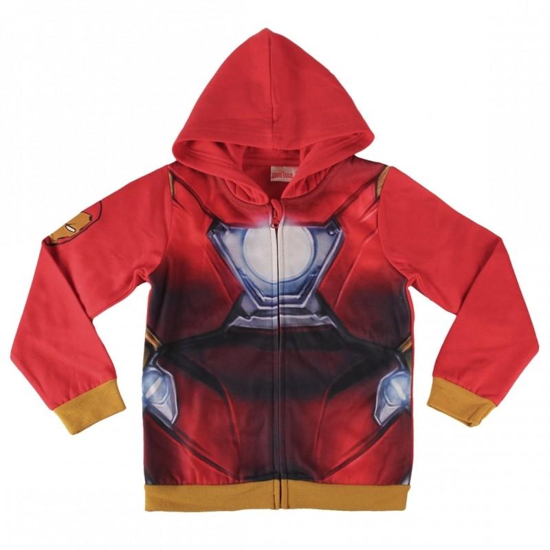 Mikina Na Zip S Kapucí Červená Iron Man / Avengers / vecizfilmu