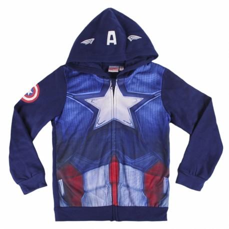 Mikina na zip s kapucí modrá Kapitán Amerika / Captain America / vecizfilmu