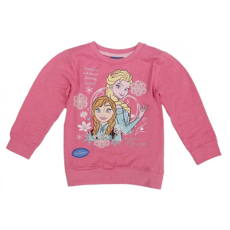 Mikina S Flitry Růžová Frozen / Ledové Království Anna A Elsa