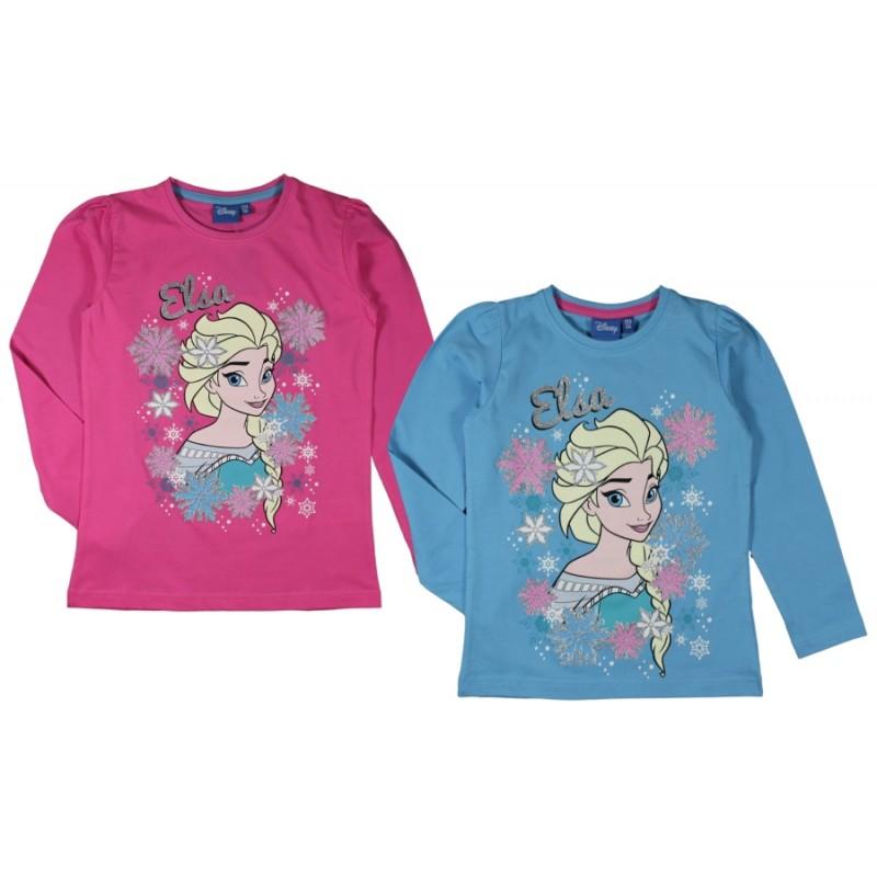 Dívčí Tričko S Dlouhým Rukávem Elsa Frozen / Ledové Království