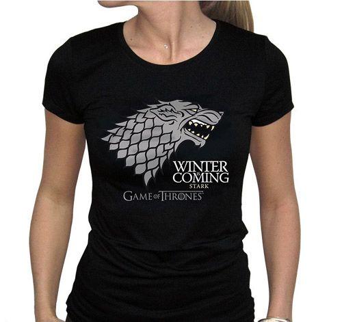 Tričko Dámské Hra O Trůny / Game Of Thrones Winter Is Coming Černé L