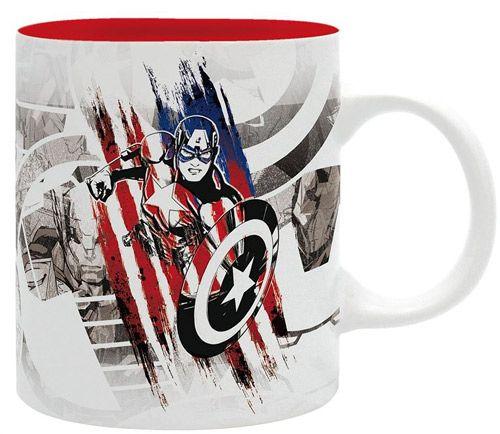Hrnek Keramický Captain America / Kapitán Amerika Marvel Bílý 320 Ml