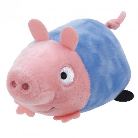 Kapesní plyšák Prasátko / Peppa Pig – George modrý 10 cm