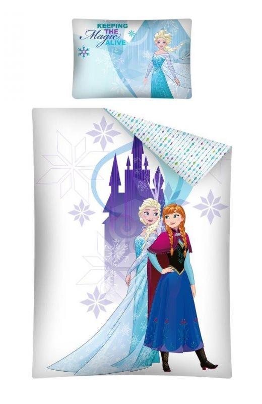 Povlečení Ledové Království / Frozen 100 X 135 Cm Bílé