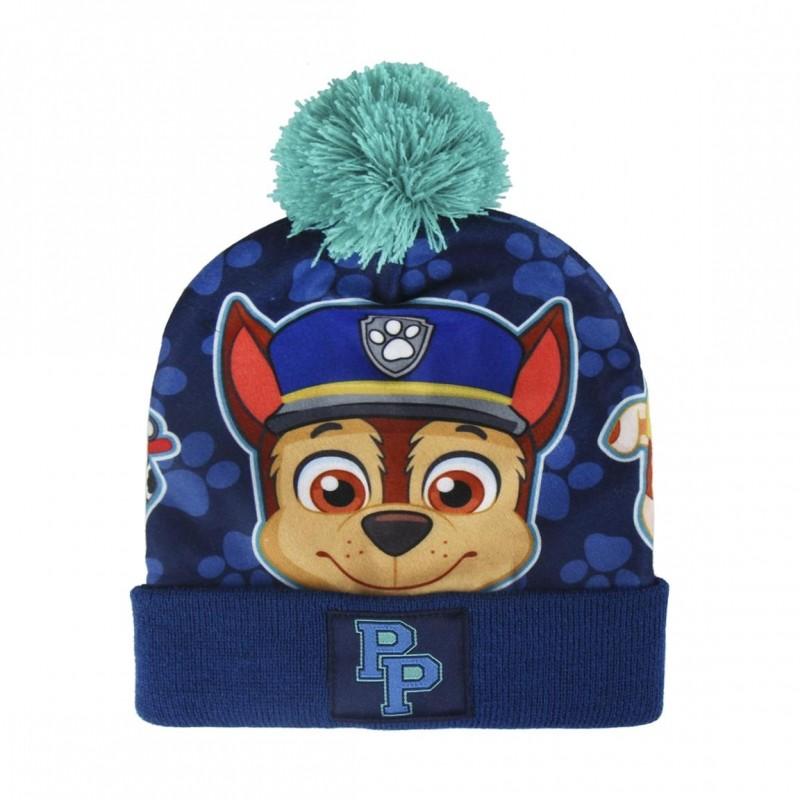 a6dfa00f90f Podzimní   zimní sada oblečení pro kluky rukavice a čepice s bambulí Paw  Patrol Chase