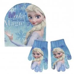 Podzimní / zimní sada oblečení pro holky rukavice a čepice Frozen Elsa