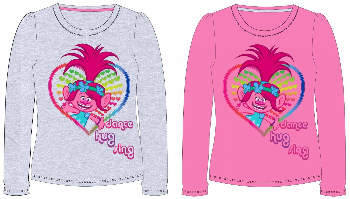Dívčí tričko s dlouhým rukávem Trollové / Trolls Poppy Dance