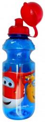 Plastová láhev na vodu s víčkem a letadly Super Wings 500 ml