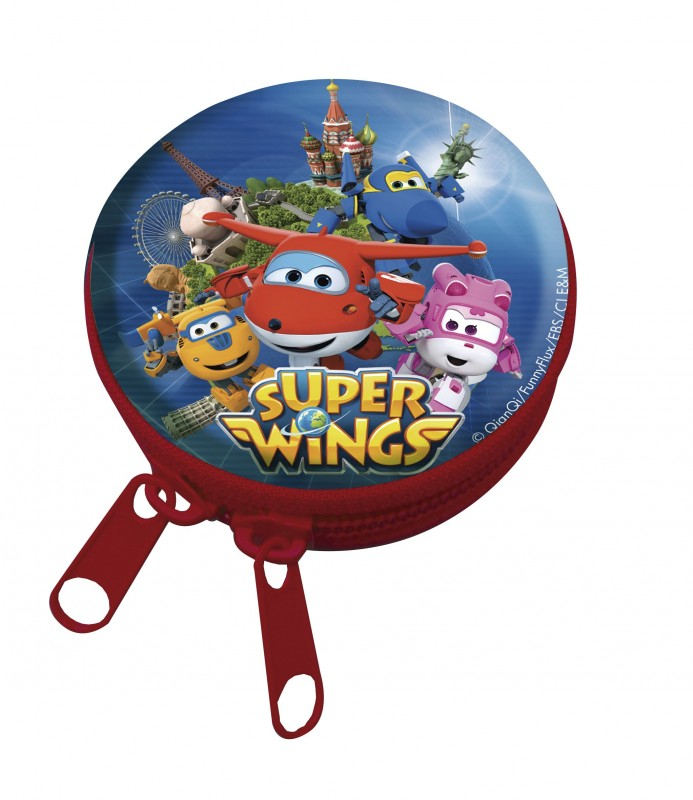 Kulatá klíčenka na zip s letadly Super Wings