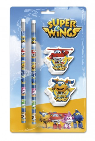 Sada tužek a 3D gum s letadly Super Wings