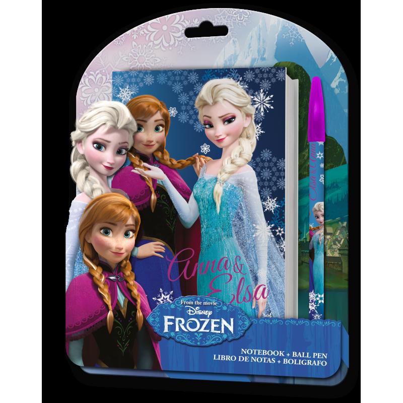 Poznámkový Blok + Kuličkové Pero Ledové Království / Frozen Anna A Elsa