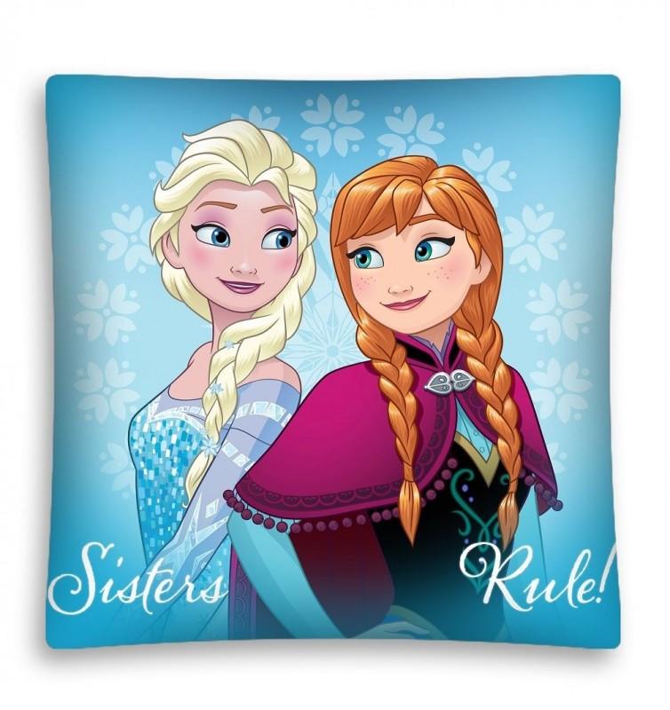 Povlečení  Na Polštář Frozen / Ledové Království Anna A Elsa 40 X 40 Cm