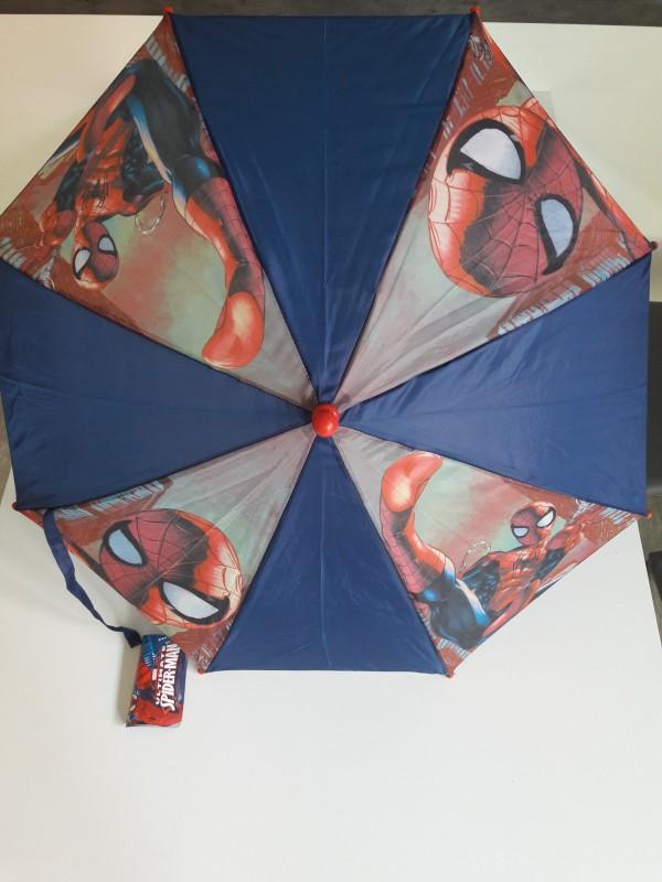 Manuální dětský deštník Spiderman s červenou rukojetí / spiderman