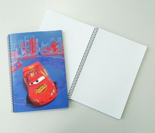 Čtverečkovaný A4 blok / notes Cars / Auta 100 listů