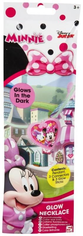 Svítící plastový náhrdelník se srdíčkem Minnie Mouse