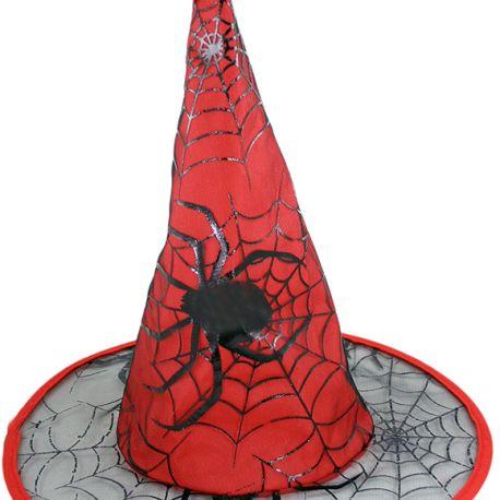 Klobouk čarodějnický / Halloween červený dospělý
