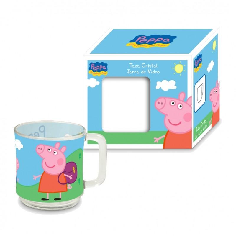 Skleněný hrnek pro děti Prasátko Peppa / Peppa Pig 2. jakost