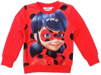 Dívčí mikina červená Miraculous Ladybug / Zázračná Beruška