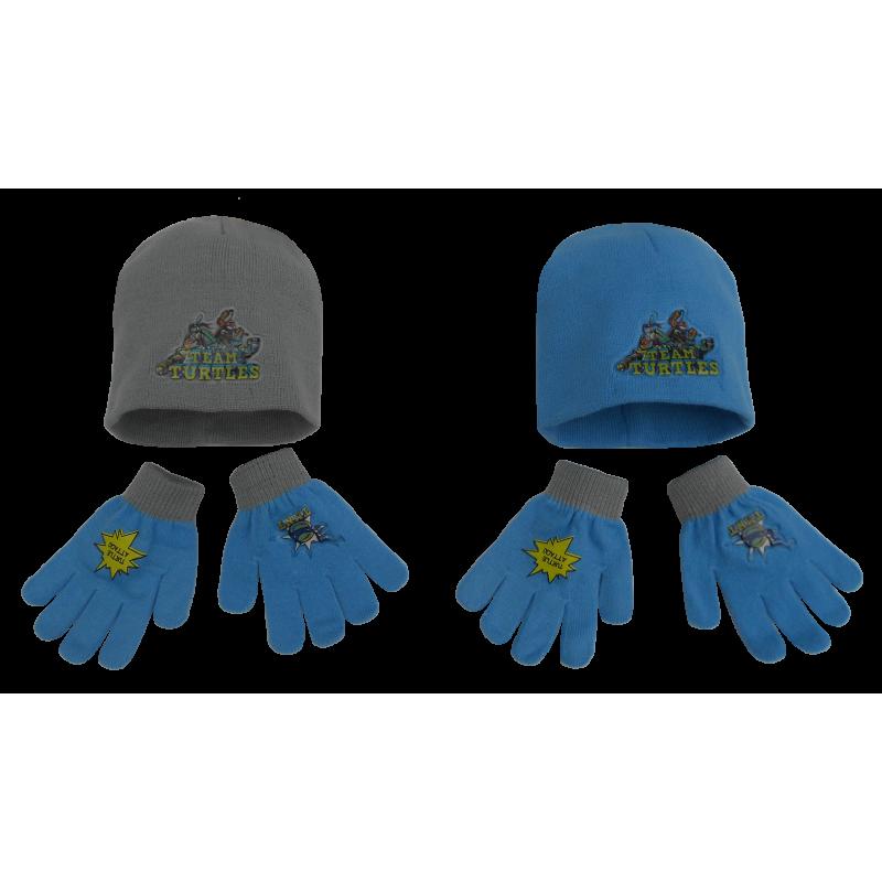 Podzimní / zimní sada oblečení Želvy Ninja / Ninja Turtles čepice a rukavice