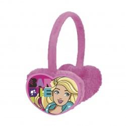 Dívčí zimní klapky na uši Barbie srdce