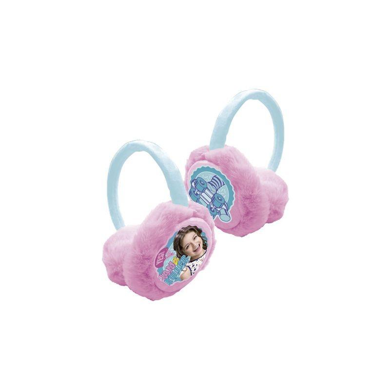 Dívčí zimní klapky na uši Soy Luna růžové