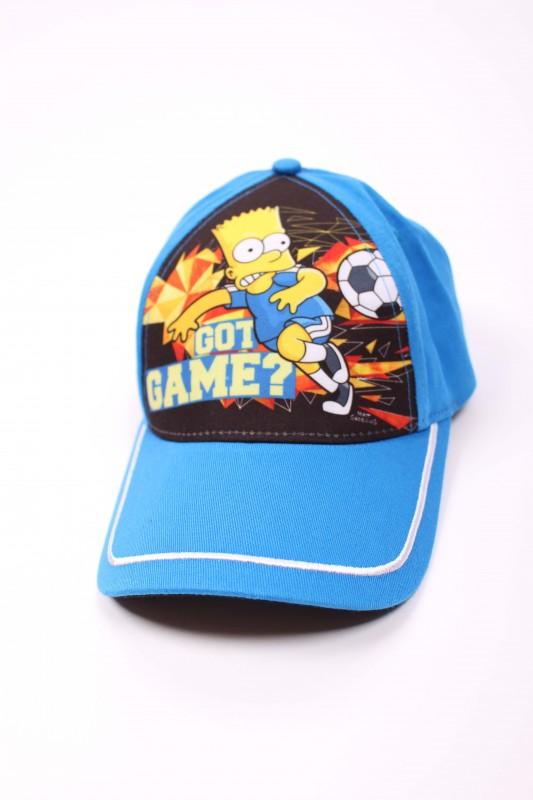Chlapecká kšiltovka modrá s Bartem Simpsonem Football