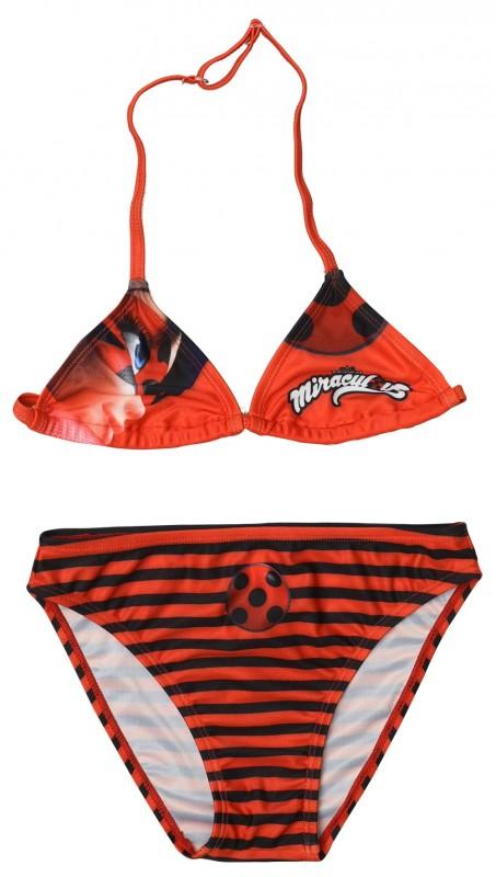 Plavky Dvojdílné Zázračná Beruška / Miraculous Ladybug Červené Vel. 104 - 128