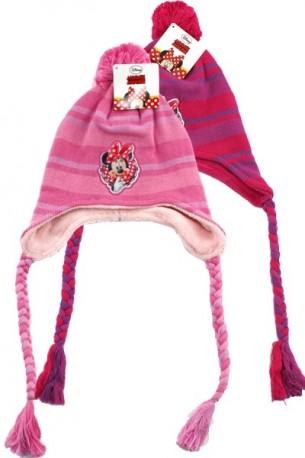 Zimní Čepice S Bambulí Minnie Mouse Červená / Růžová / vecizfilmu