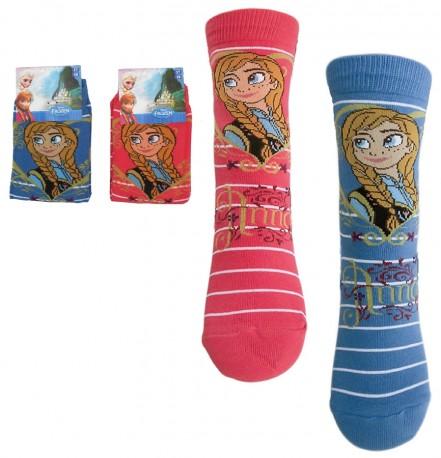 Ponožky Ledové Království / Frozen Anna Modré / Červené Vel. 23-34