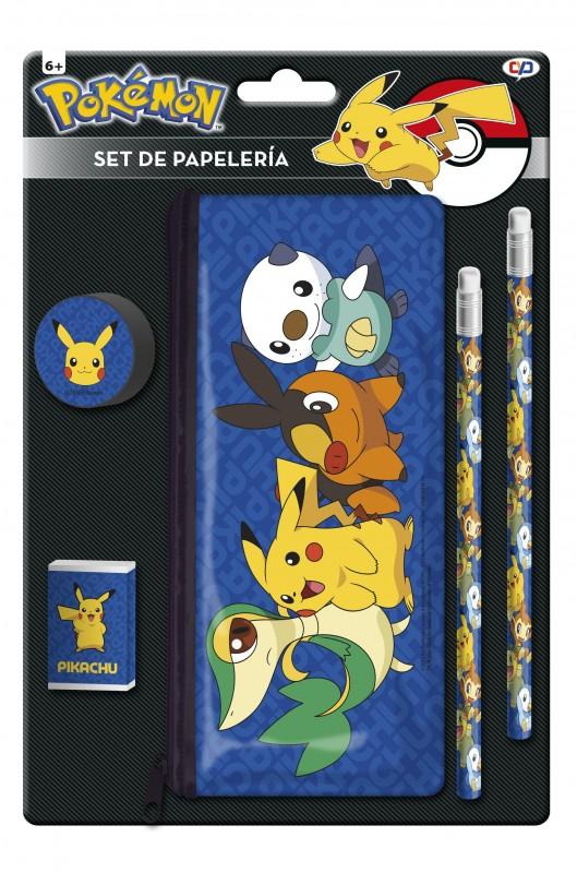 Sada školních potřeb Pokémon tužky / pouzdro / guma a strouhátko