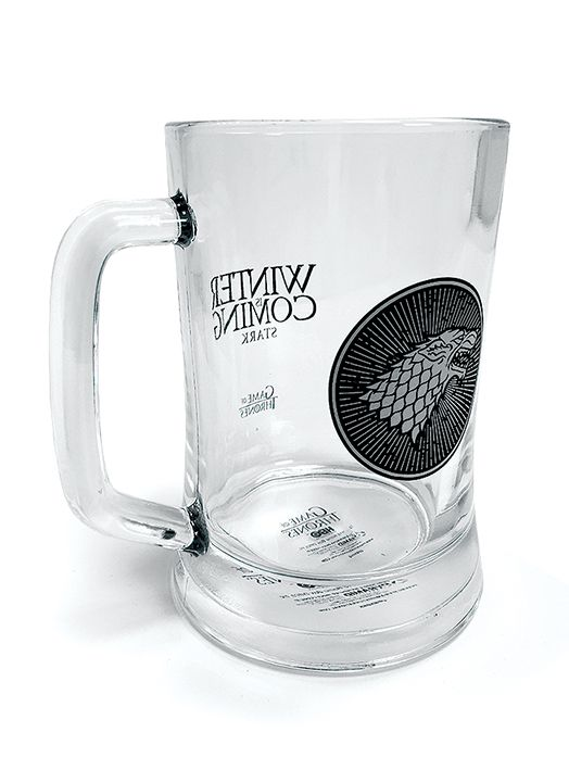 Korbel Hra o trůny / Game Of Thrones House Stark skleněný 300 ml