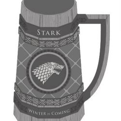 KORBEL PIVNÍ HRA O TRŮNY / GAME OF THRONES STARK ŠEDÝ 900 ML