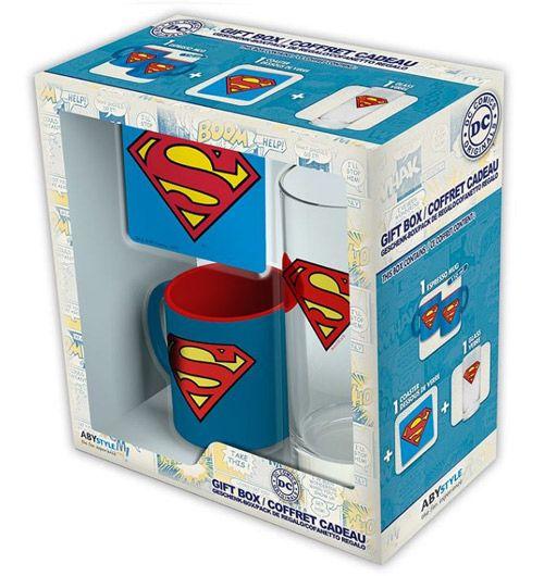 HRNEK + SKLENICE + TÁCEK SUPERMAN DC COMICS