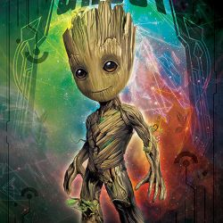 PLAKÁT STRÁŽCI GALAXIE / GUARDIANS OF THE GALAXY GROOT 61 x 91,5 cm MARVEL