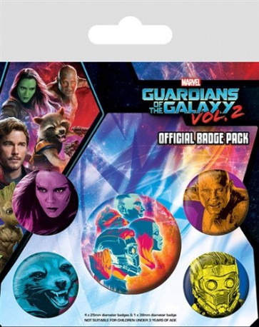 PLACKY ODZNAKY SET 5 KUSŮ GUARDIANS OF THE GALAXY