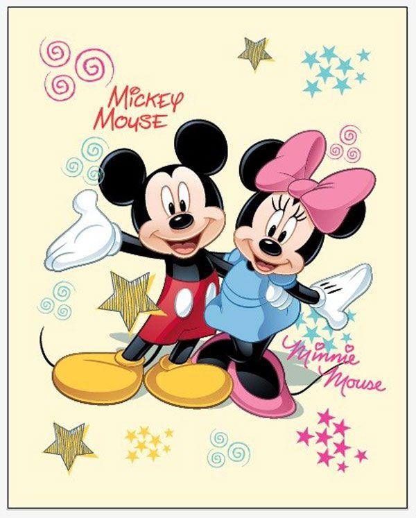 Fleece deka Mickey a Minnie 120/150