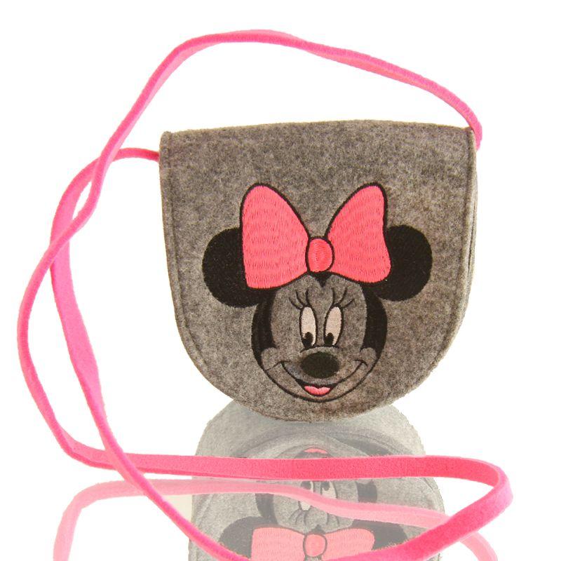 Taška přes rameno Minnie Mouse šedá / růžová